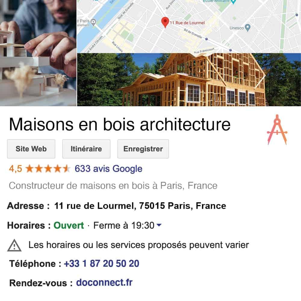 fiche google my business doconnect avis google agence immobiliere agent immobilier architecte mandataire immo administrateur de biens copropriete