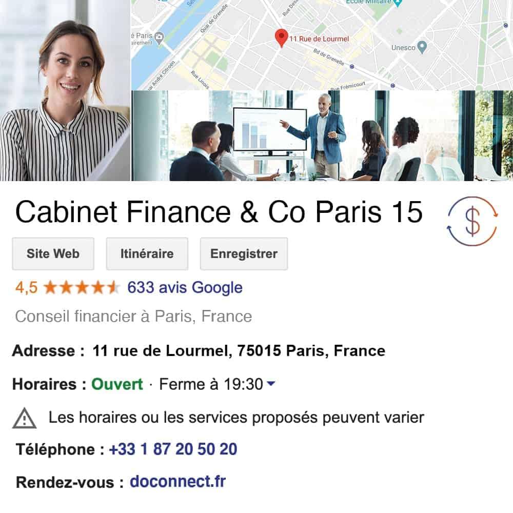 fiche google my business doconnect conseil financier audit expert comptable commissariat aux comptes conseil en patrimoine optimisation fiscale