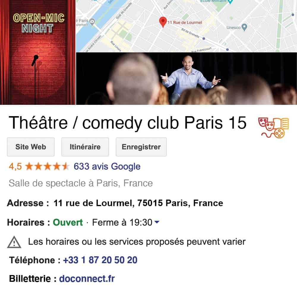 fiche google my business doconnect culture cinema salle de spectacle theatre concert cafe-theatre musee exposition