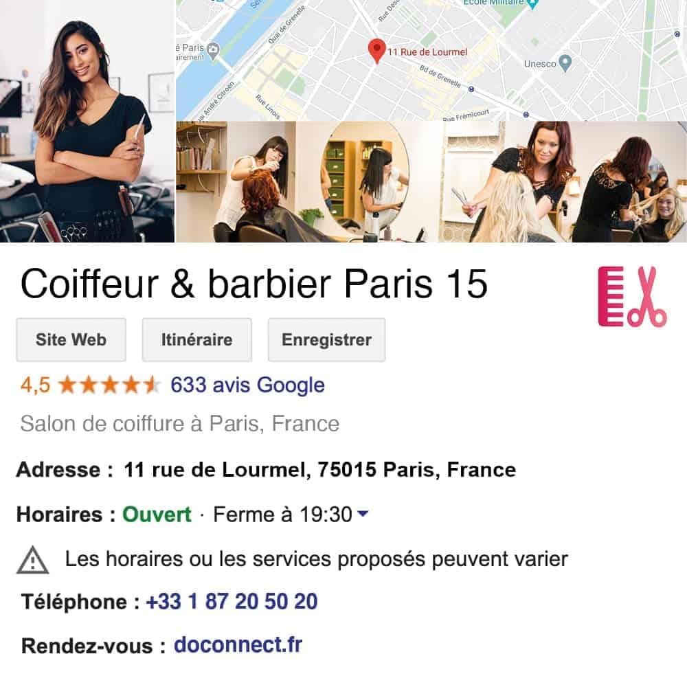 fiche google my business doconnect institut de beaute spa coiffeur salon de coiffure