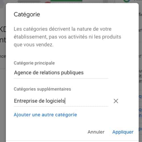 categorie google my business doconnect